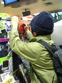 渋谷で落書き